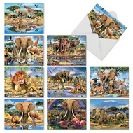 Savanna Selfies, Assorted Set Of Mini Thank You Note Cards - AM6640TYG