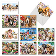 Off The Leash, Assorted Set Of Mini Thank You Greeting Cards - AM6641TYG
