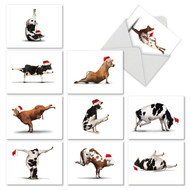 M6545XS - Holiday Bovine Nirvana: Assorted Set of 10 Cards