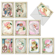 M6695XS - Pink Kringle: Assorted Set of 10 Cards