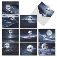 Sleigh Moon, Assorted Set Of Mini Christmas Note Cards - AM6713XSG