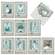 M6731XS - Snow Angels: Mixed Set of 10 Cards