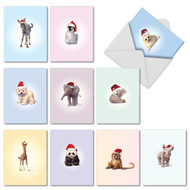 M6726XS - Christmas Zoo Babies: Mixed Set of 10 Cards