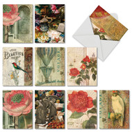 Secret Garden, Assorted Set Of Mini All Occasions Greeting Cards - AM6727OCG