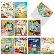 Forest Friends, Assorted Set Of Mini Blank Greeting Cards - AM2952OCB