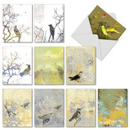 M2987TY - Bird Collages: Mixed Set of 10 Cards