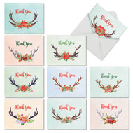 M6720XT - Floral Horns: Assorted Set of 10 Cards