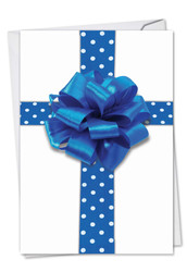 1768DHK - Beribboned In Blue: Paper Card