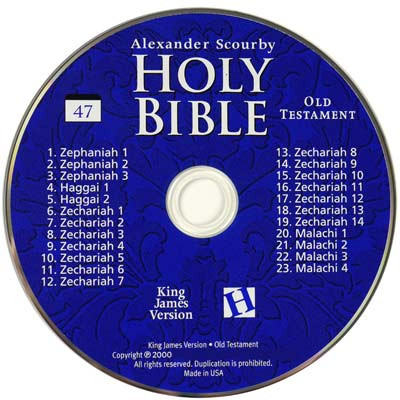 Kjv Audio Bible King James Bible On Cd Alexander Scourby Voice Only