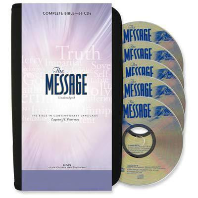 Front view - The Message Audio Bible by Eugene Peterson on CD