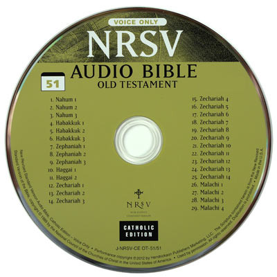 Catholic Bible on CD, New Revised Standard Audio Bible reading on CD