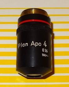 Nikon Plan Apochromat 4X Microscope Objective 160mm TL