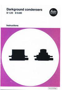 Leitz Darkground / Darkfield Microscope Condenser Instruction Manual PDF Document