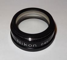Nikon Stereo Microscope Auxiliary Objective 0.4X