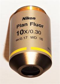 Nikon Microscope CFI PlanFluor 10X Objective