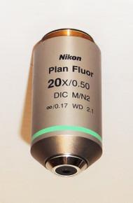 Nikon Microscope CFI Plan  Fluor 20X Objective