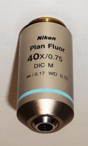 Nikon Microscope CFI Plan Fluor 40X Objective