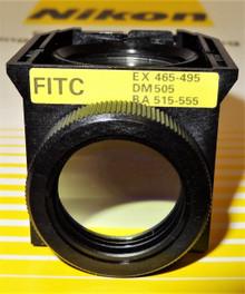 Nikon FITC Fluorescent Microscope Filter Cube for 50I, 80I TE2000/3000