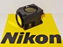 Nikon B Blue Fluorescent Microscope Filter Cube E400/ 600, TE200/300