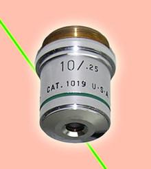 American Optical 10X Microscope Objective Infinity Tube Length