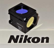 Nikon Omega Acridine O Fluorescent Microscope Filter Cube for E400/ 600 series