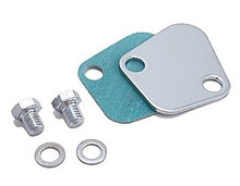 SPECTRE Chrome Fuel Pump Block-Off Plate BB SB 42473