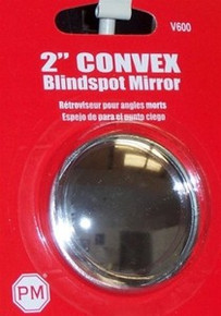 "2-Pack PETERSON 2"" Convex Round Stick-On Blindspot Mirror V600"