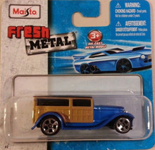 Maisto Fresh Metal Die-Cast Vehicles ~ 1932 Ford Wood Panel Van Truck (Blue)
