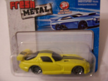Maisto Fresh Metal Die-Cast Vehicles ~ 1998 Dodge Viper GTS (Yellow)