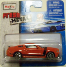 Maisto Fresh Metal Die-Cast Vehicles ~ 2013 Ford Mustang Boss 302 (Orange with Black Accents)