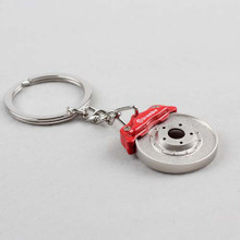BREMBO RED CALIPER DISC BRAKE KEY CHAIN RING
