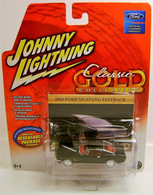 Johnny Lightning Classic Gold Collection 1965 Ford Mustang Fastback Black