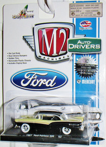 Ford Fairlane 500, Lime Green/Black, 1957, Model Car, Ready-made, M2 Machines 1:64