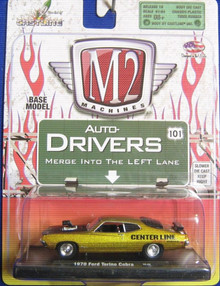M2 Machines 1970 Ford Torino Cobra, Centerline, Metallic Gold/Matte Black, Ready-made,12-42 1:64