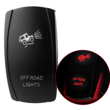 JEEP SUV Truck OFF ROAD Lights Rocker Switch 12V 20A 24V 10A 5Pin Red LED