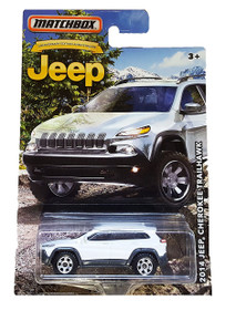 MATCHBOX LIMITED EDITION JEEP ANNIVERSARY EDITION WHITE 2014 JEEP CHEROKEE TRAILHAWK DIE-CAST