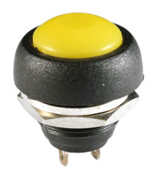 WATERPROOF YELLOW PUSH BUTTON 12V MOMENTARY SWITCH AUTO / BOAT / ATV /MOTORCYCLE