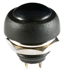 WATERPROOF BLACK PUSH BUTTON 12V MOMENTARY SWITCH BUTTON AUTO / BOAT /MOTORCYCLE