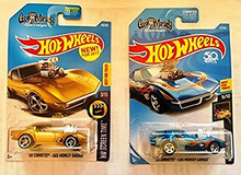 Hot Wheels 2017 and 2018 '68 Corvette Gas Monkey Garage Car Set