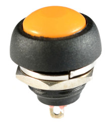 WATERPROOF ORANGE PUSH BUTTON 12V MOMENTARY SWITCH AUTO / BOAT / ATV /MOTORCYCLE