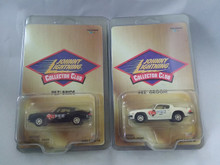 Johnny Lightning Collector Club PEZ Bride and Groom Camaro Set