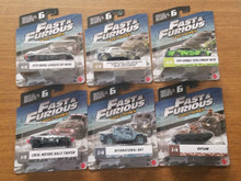 Mattel Fast And Furious Diecast Camo Series Complete 6 Car Set