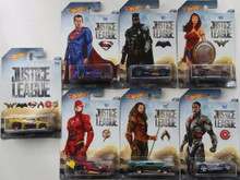 Hot Wheels Exclusive DC Justice League Movie Complete 7 Car Set