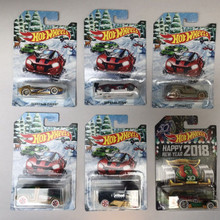 Hot Wheels Holiday Hot Rods 2017 & Happy New Year 2018 Set of 6 Cars