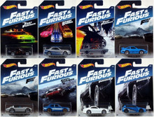 Hot Wheels 2017 Fast & Furious Series Set of 8 Cars