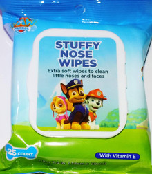 Paw Patrol Stuffy Nose Extra Soft Wipes with Vitamin E (25ct) - FREE SHIPPING