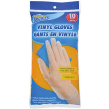 SCRUB BUDDIES Vinyl Gloves 10-Pack - FREE SHIPPING