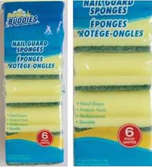 SCRUB BUDDIES 12ct Nail Guard Multi Purpose Sponges - FREE SHIPPING
