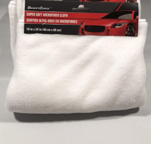 "Driver's Choice White Microfiber Towel Car Cleaning Super Soft 16"" X 24"" - FREE SHIPPING"