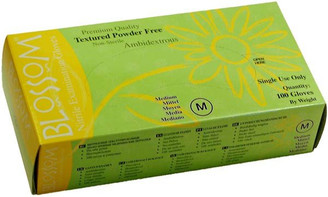 Blossom Textured Avocado Powder-Free Nitrile Gloves XS, SM, MED, LG